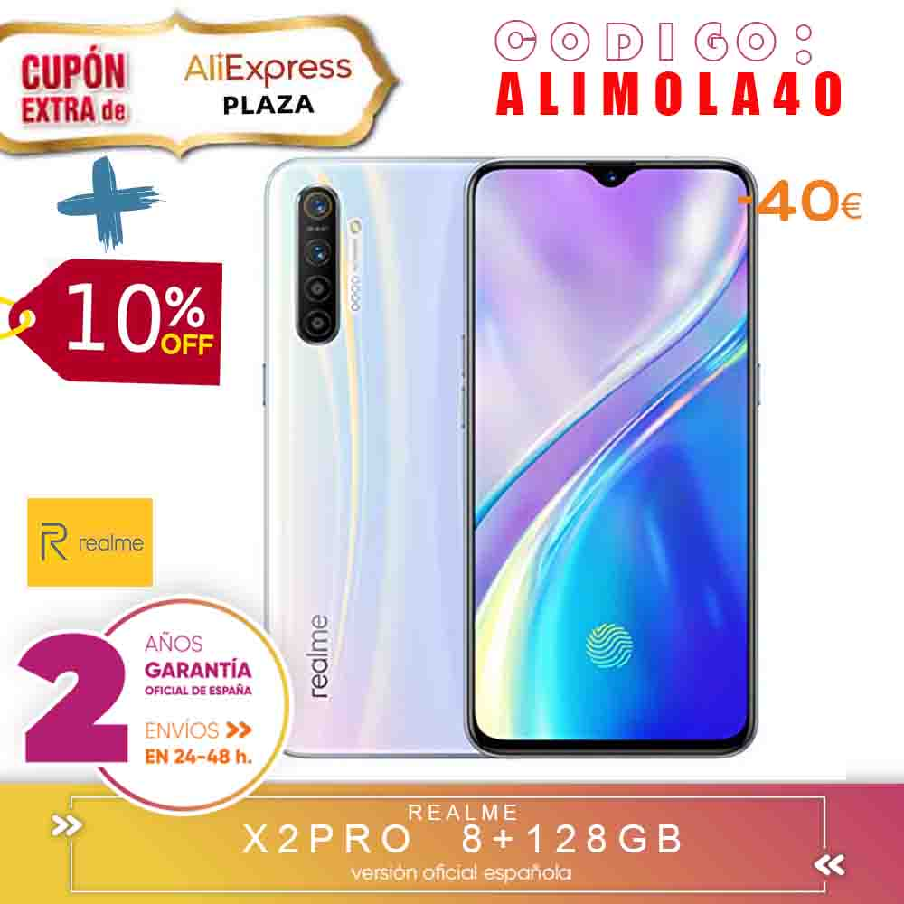 [Official Spanish Version Warranty] Realme X2, X2 PRO Smartphone Phone, 8 Gb Ram 128 Gb ROM 6,4 ''Snapdragon 730G, 855 Plus