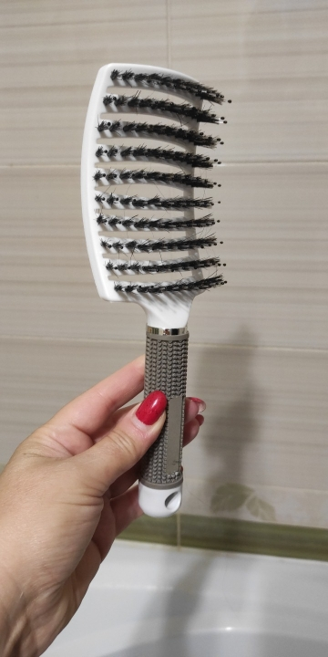 Detangling Women Hair Scalp Massage Comb and Bristle Hairbrush for Wet Curly Hair photo review