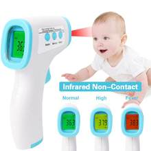 In Voorraad Ft-888 Infrarood Voorhoofd Thermometer Voor Baby Adult Body Koorts Thermometer Pistool Geen Touch Digitale Thermometer(China)