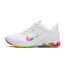 Nueva Shox Reax correr amanecer Mens zapatos de baloncesto deportes atléticos zapatillas NZ R4 mujeres cojín zapatillas de deporte Max tamaño 36-45