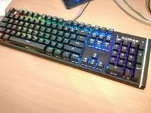 Very high quality keyboard as if made of metal, sensitive keys and many backlight modes, b