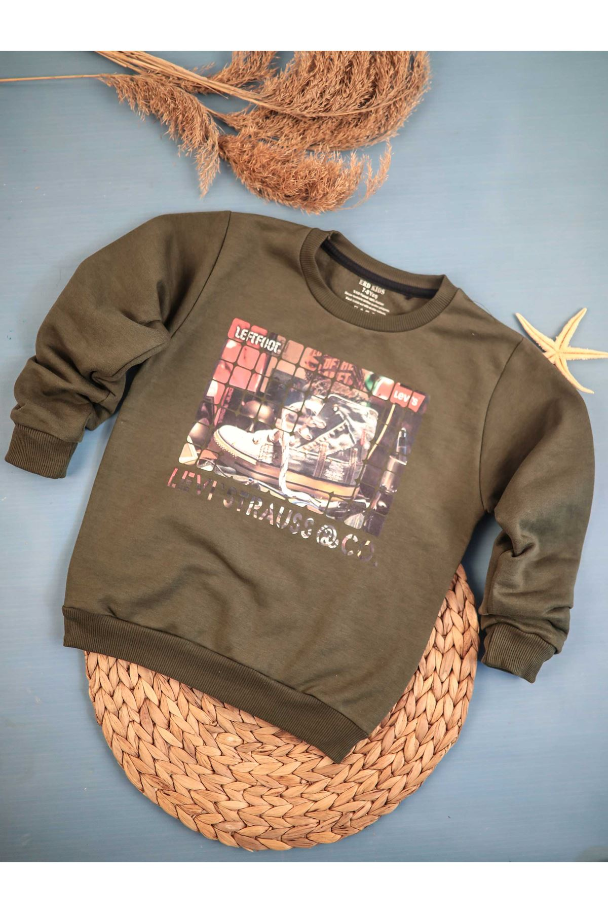 Khaki Seasonal Male Child Sweatshirt