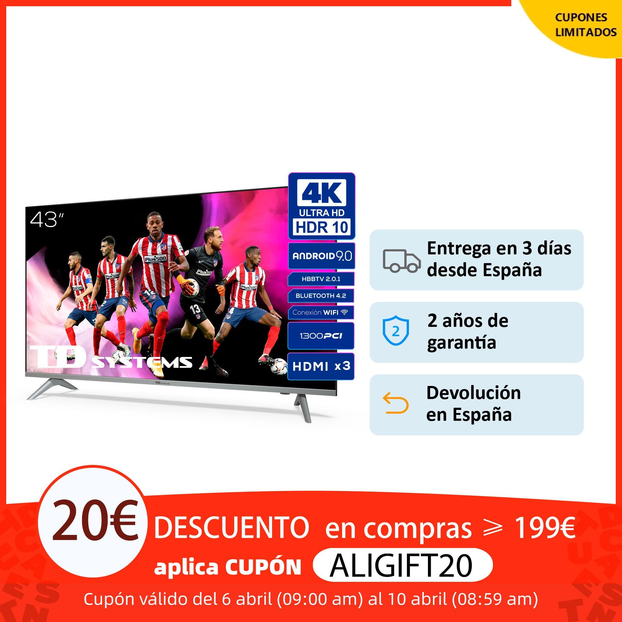 Televisores Smart TV 43 Pulgadas TD Systems K43DLX11US. UHD 4K HDR, DVB T2/C/S2, HbbTV [Envío desde España, garantía de 2 años] Smart TV  - AliExpress