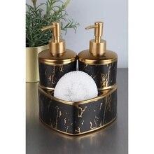 76/5000 Porcelain Liquid Soap Dispenser with Sponge Bathroom Accessories 2020 Luxury Washing Appliances