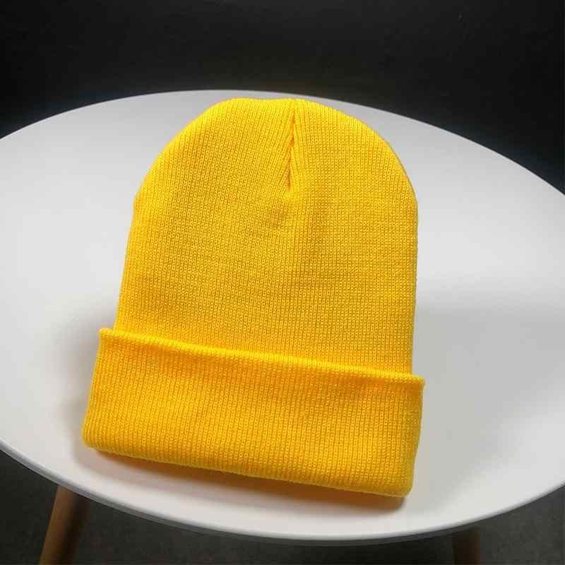 2020 หมวกฤดูหนาวสำหรับผู้หญิงใหม่ Beanies ถักของแข็งน่ารักหมวกหญิงฤดูใบไม้ร่วงหญิงหมวกอุ่น Bonnet สุภาพสตรีหมวก
