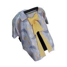 Yellow Kurdelalı Gray Star Stroller Cover