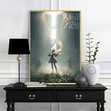 NieR Automata Fight Game Girl Japan Anime Comic Oil Canvas Painting Poster Prints Wall Art Pictures Living Room Home Decoration