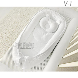 Jaju Baby nest Babynest Sleep Bed 100x60cm Toddler Nest Toddler Baby Cot Bedding Set Baby Crib Set Baby Bed
