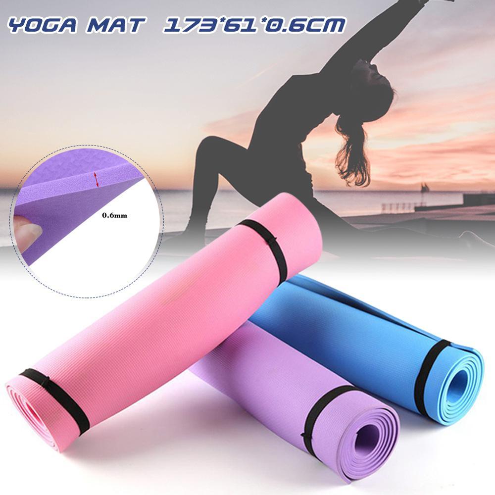 Yoga Mat Pad Carpet Folding Non Slip 173 X 61 X 0.6 Cm EVA Fitness Beginner Thick Gym  Pilates Indoor Training Exercise Sport