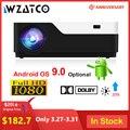 WZATCO M18 1920x1080P Android 9 0 WIFI AC3 4K 200 zoll Full HD 1080P LED Projektor video Proyector für Heimkino 5500lumen-in LCD-Projektoren aus Verbraucherelektronik bei