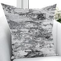 他のグレー、黒、白 Nordec 抽象水彩 3D 印刷リビングルームの寝室の窓パネルカーテン結合ギフト枕ケース