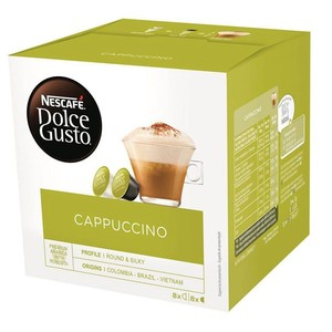 Cappuccino 8 drinks. Dolce Gusto, this drink uses 2 capsules.