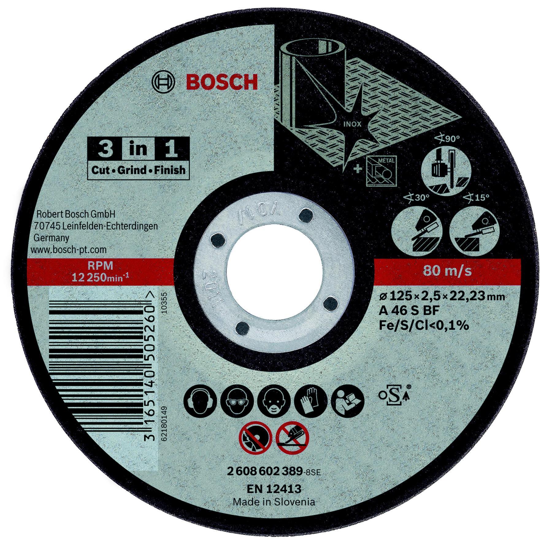 Circle Cutting BOSCH 125х2. 5х22 BOSCH 3 In 1 (2.608.602.389)