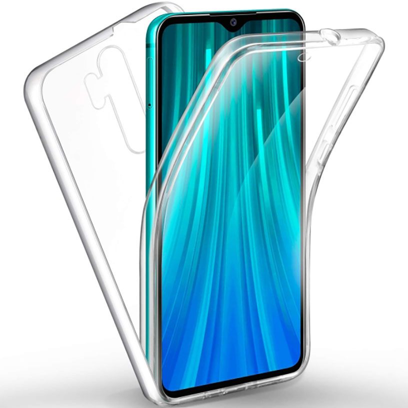 Stand Case Double 360 ° For XIAOMI Note Redmi 8 PRO Front + Back Clear