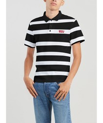 Polo Levis®Boink Stripe poloshirts fashion short sleeve white and black color BRANDED for men