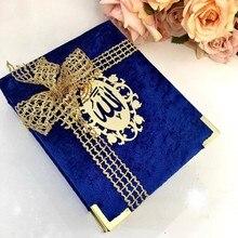 Coran koran książka aksamitna okładka islamskie prezenty okładka Ameen ślub Hajj Eid Ramadan Mubarak muzułmanin ślub dzień matki dobrodziejstw