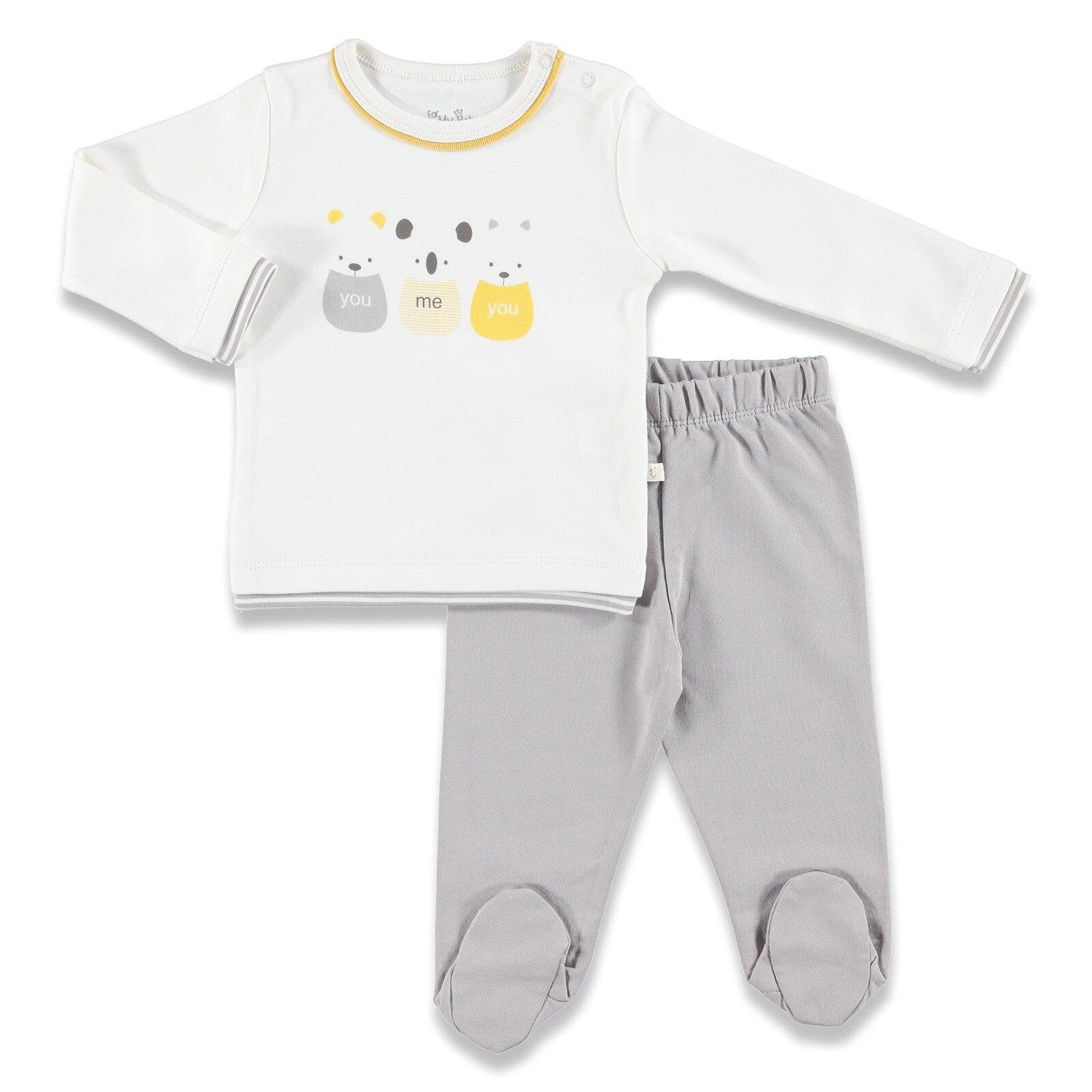 Ebebek For My Baby Koala Crew Neck Sweatshirt Footed Pant 2 Pcs