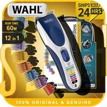 Wahl cor pro clipper de cabelo cor codificada sem fio clipper para homens navalha barbeador cabelo profissional 10 pentes aparadores cabelo