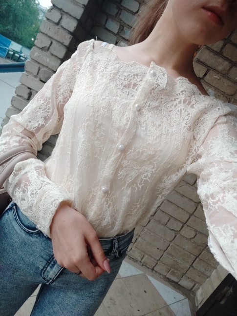 Sexy Off Shoulder Lace Top Autumn Fashion Ladies Blouse Long Sleeve Elegant Woman Shirt Casual Blusa Feminina Strapless photo review