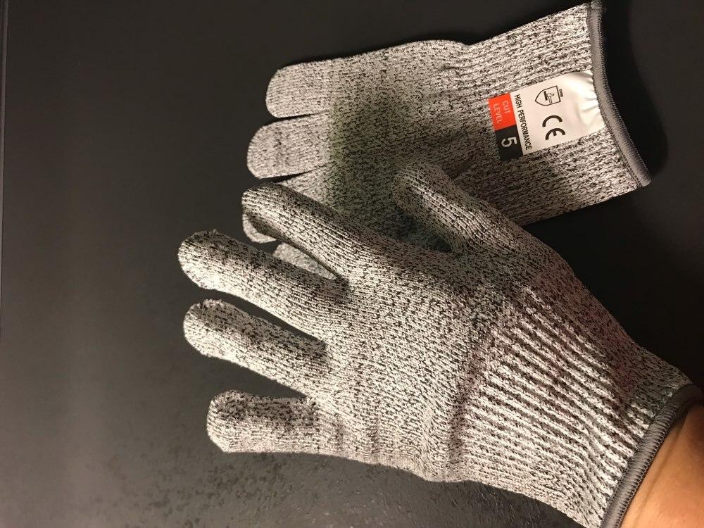 Haute résistance Grade niveau 5 Protection sécurité Anti-coupure gants cuisine résistant aux coupures gants pour la viande de po
