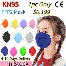 20/50pc mascarilla facial ffp2 kn95 ffp2mask máscara enfant niños máscaras 5 capas máscaras sagornasapp mascarilla fpp2 homologada niñas