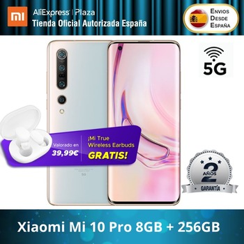 Купить Xiaomi Mi 10 Pro 5G (256 ГБ ROM con 8 Гб RAM, Snapdragon™865, Android, Nuevo, Móvil) [telefono Móvil Versión Global para España]