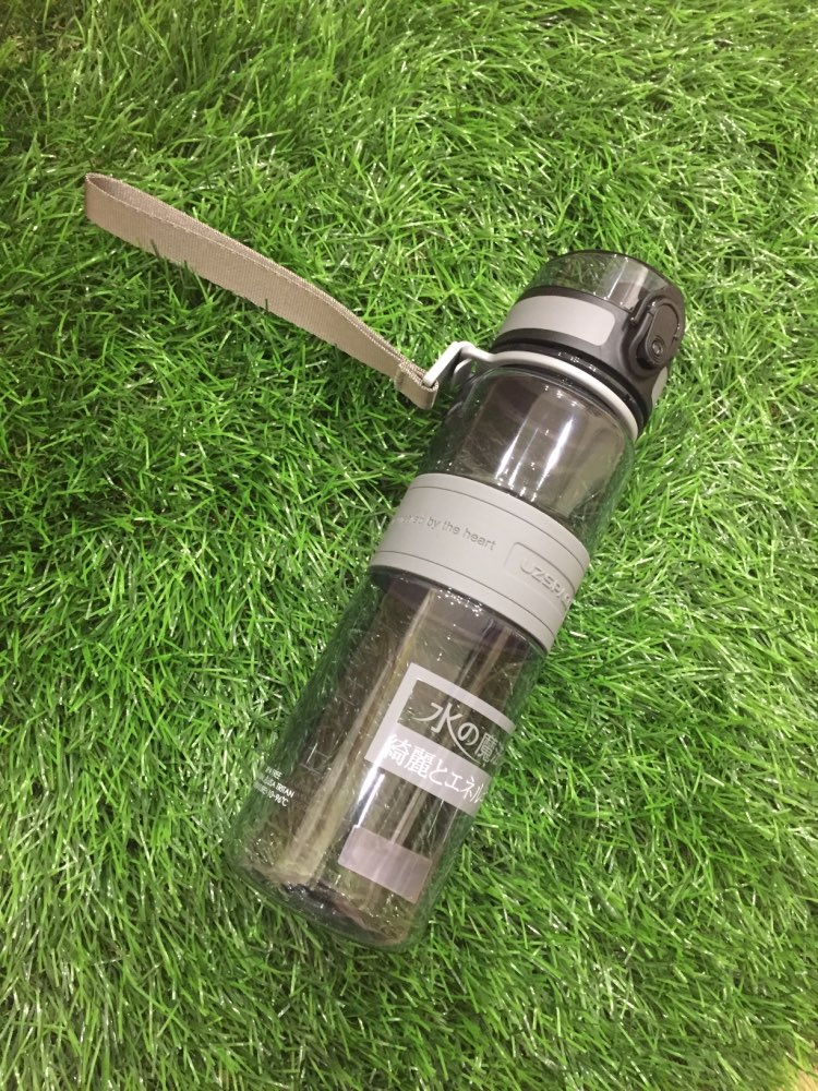 UZSPACE Water Bottle Popular Gray Men Outdoor Sport Travel My Drink Bottle Portable Leakproof Plastic Bottle BPA Free 5 Capacity-in Water Bottles from Home & Garden on AliExpress