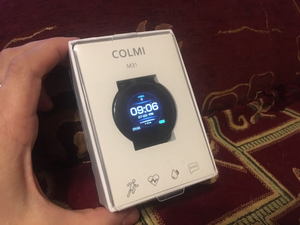 COLMI M31 Smart Watch Full Screen Touch IP67 Waterproof Fitness tracker Heart rate monitor Smartwatch for Android & iOS phone-in Smart Watches from Consumer Electronics on AliExpress