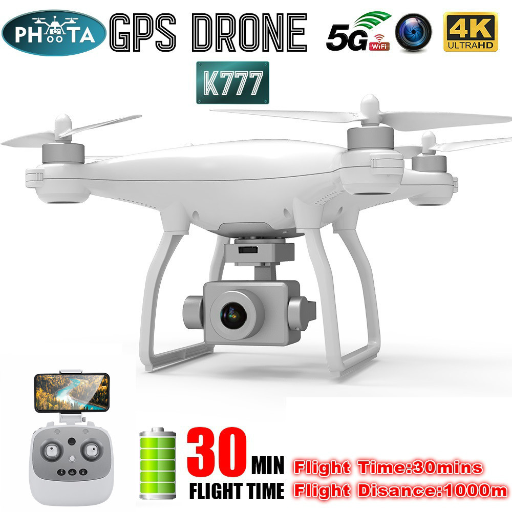 K777 GPS Drone 4K HD Camera Gimbal Stabilizer Drones Profissional RC Quadcopter 5G WiFi FPV Brushless Motor 30mins Flight VS X35