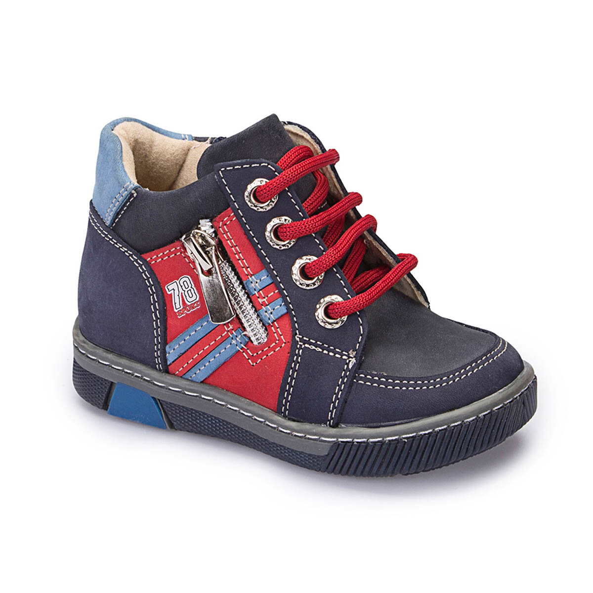 FLO 62.508424.B Navy Blue Male Child Boots Polaris