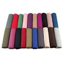 Популярные красивые цветные высококачественные простые эластичные трикотажные Шали, упругие шали для головы ислам, шарфы для мусульманских женщин, хиджаб, шарф, 10 шт./лот