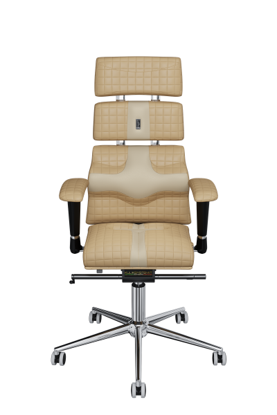 Office Chair KULIK SYSTEM PYRAMID Beige Computer Chair Relief And Comfort For The Back 5 Zones Control Spine