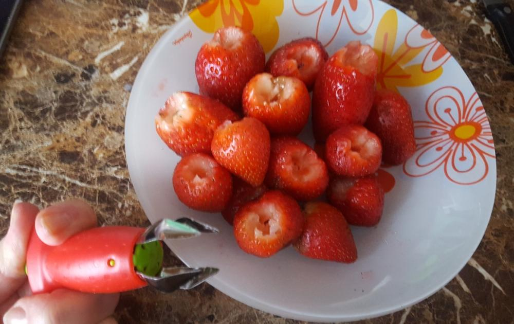 Strawberry Huller Strawberry Top Leaf Remover Fruit Tomato Stalks Spillter Fruit Stem Remover Fruit Tools Kitchen Gadgets|Corers|   - AliExpress