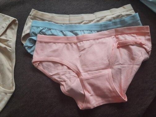 TERMEZY Women Sexy Panties Cotton Underwear Solid Color Briefs Girls Low-waist Lingerie G String Soft Breathable Intimates XXS-L photo review