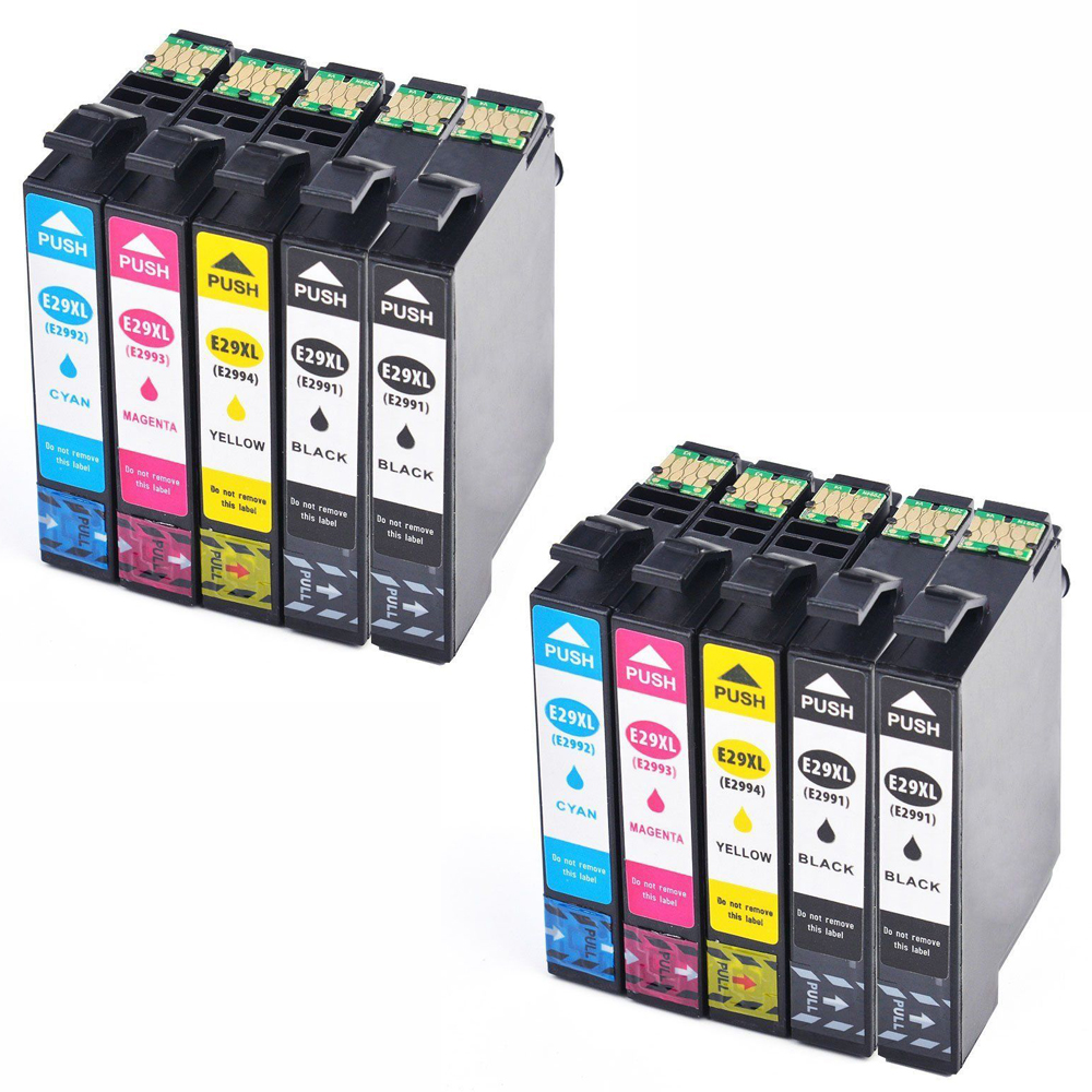 10 Ink Cartriges T29XL Model T 29 XL 29XL's Refill Compatible With Epson Printers XP235 XP335 XP332 XP432 XP435