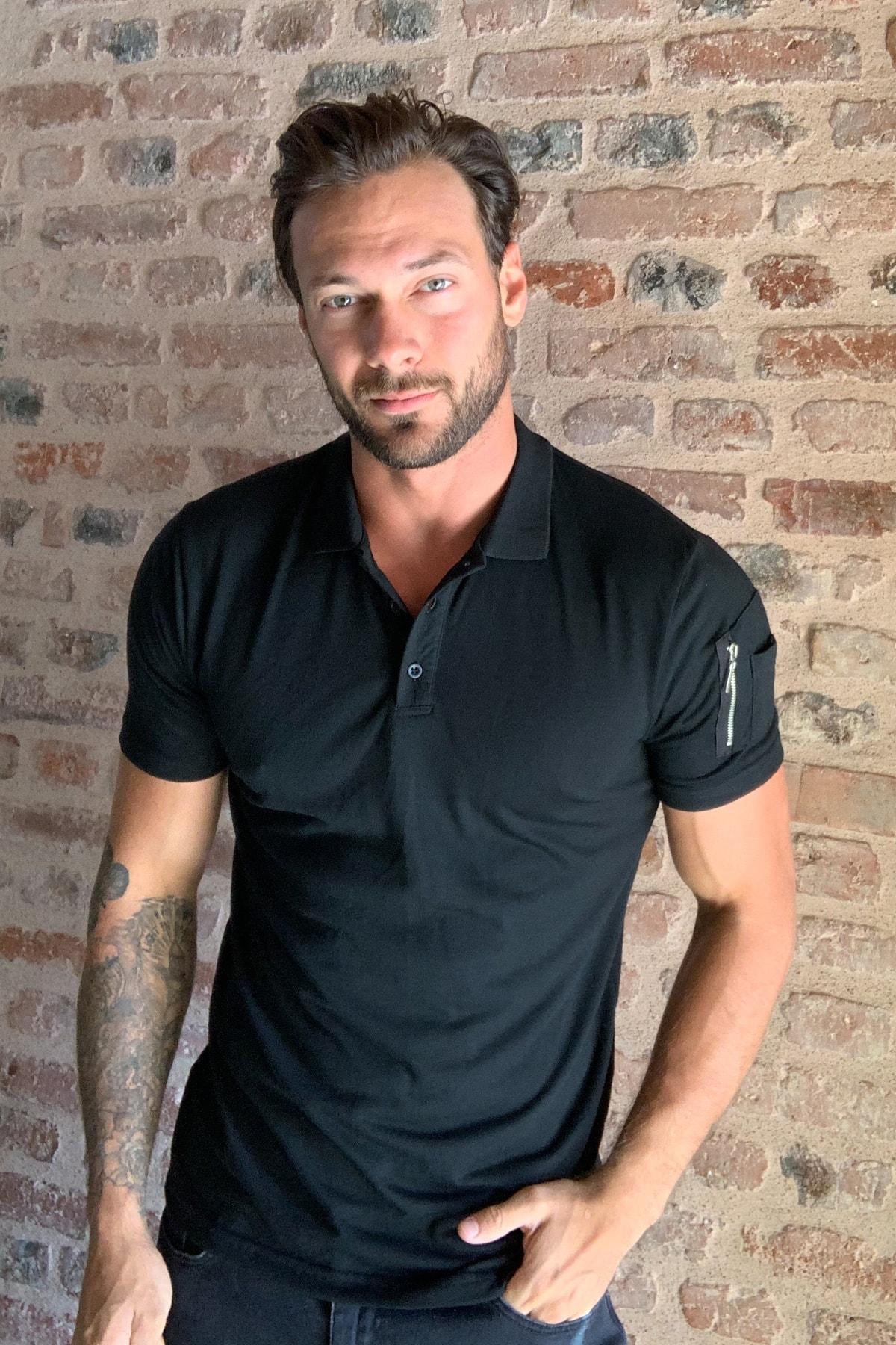 Мужская футболка 2020 модный сексуальный Повседневный стиль Черная мужская футболка поло воротник турецкий продукт|Футболки| | АлиЭкспресс