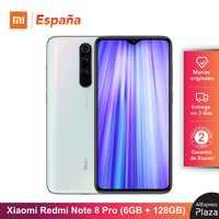Xiaomi Redmi Note 8 Pro (128GB ROM, 6GB RAM, Cámara de 64 MP, Android, Nuevo y Libre) [Teléfono Movil Versión Global para España] note8pro