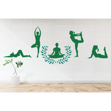 New Arrival Design Yogas Different kind of Positions Decal Wall Living room Decoration A0025