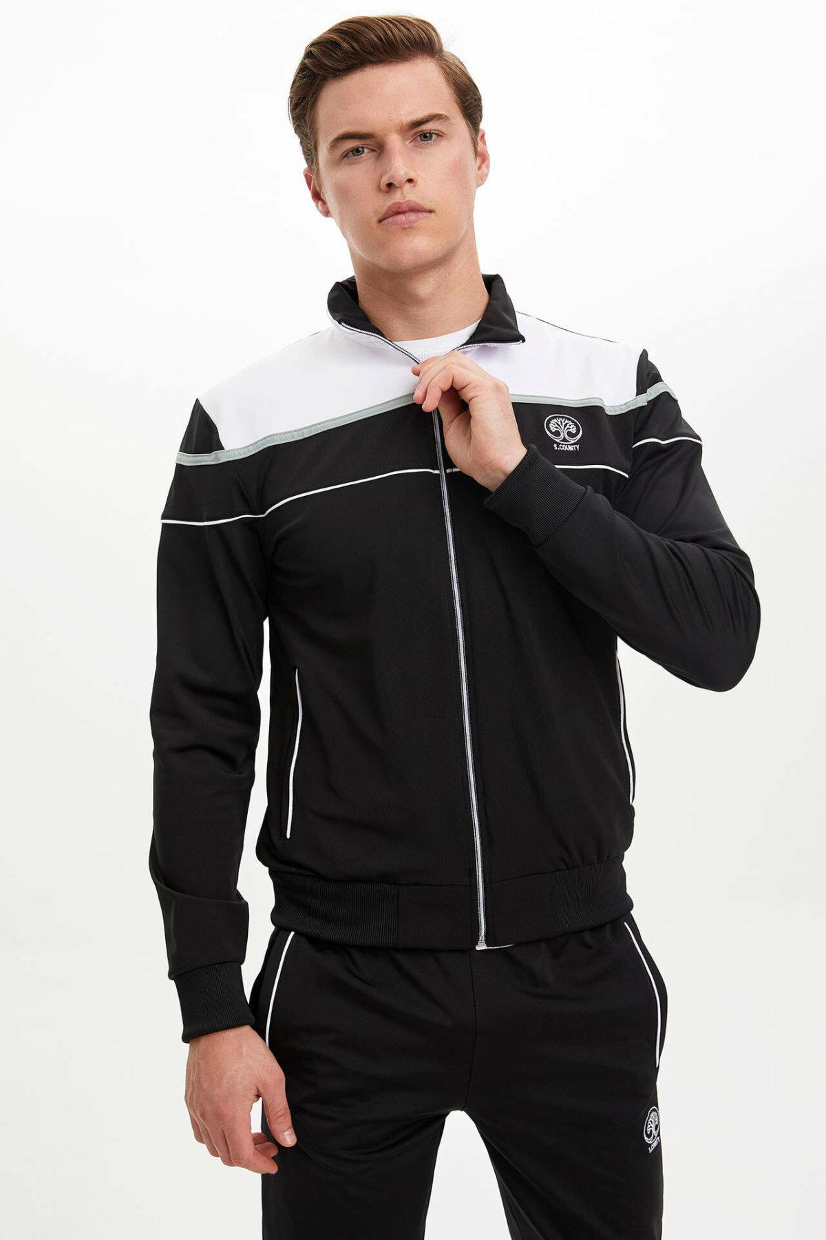 DeFacto Autumn Fashion Man Lapel Patchwork Coats Male Casual Comfort Sweatshirt Men's High Quality Loose Coats - M8359AZ19AU