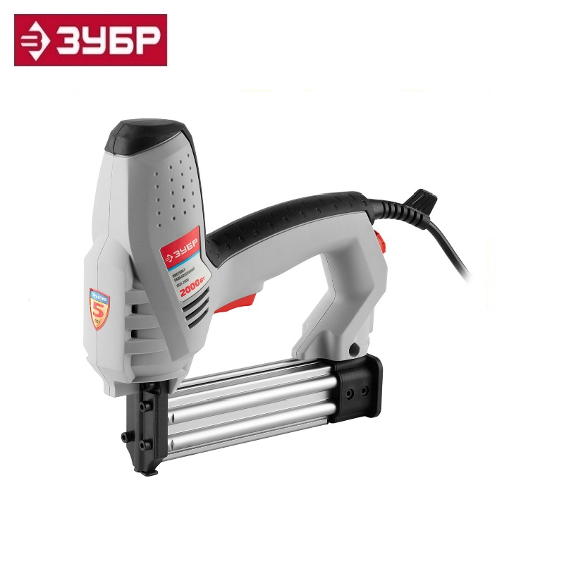 Staple gun (stapler), ZUBR ZSP-2000, impact force regulator, staple: 15-25 mm, nail: 15-30 mm, 2000 W Electric Nailer gun frame with staples and nails Wood joinery tools j112 electric nailer 2000w nail gun framing nailer tools eletric nails gun electric power tools 220v