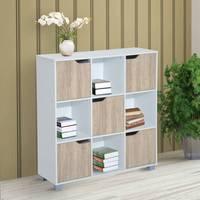 Low shelf type Organizer Multifunctional 3 Levels Coloranco and Oak 89.5x30x93cm
