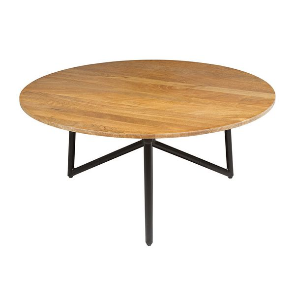 Centre Table (90 X 90 X 40 Cm) Circular Mango Wood