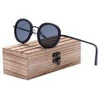 Ronde vintage - Noyer - Noir - Coffret en bois