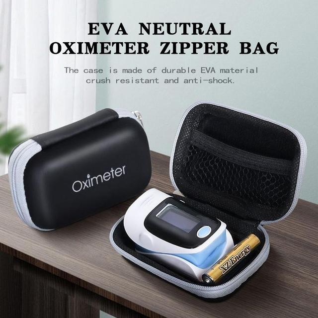 1pc EVA Neutral Finger Oximeter Zipper Bag Storage Bag Pulse Oximeter Storage Box Oximeter Cover Kit Bag Protection Bag