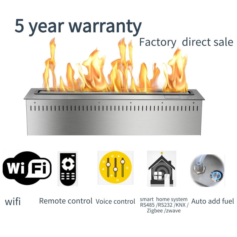 60 Inch Wifi Intelligent Smart Modern Chimenea Home Decor Ethanol Electric Fireplace Stoves