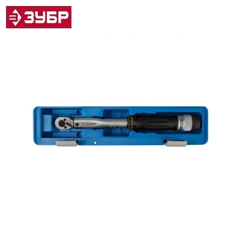 Фото - Torque wrench with ring lock, accuracy +/- 4%, 1/4 , 6 - 30 Nm, ZUBR 64081-030 double-sided for precise mechanism wrench hand ключ динамометрический зубр 64081 030