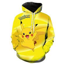 Свитшот унисекс повседневный пуловер с 3d принтом покемона мультяшное