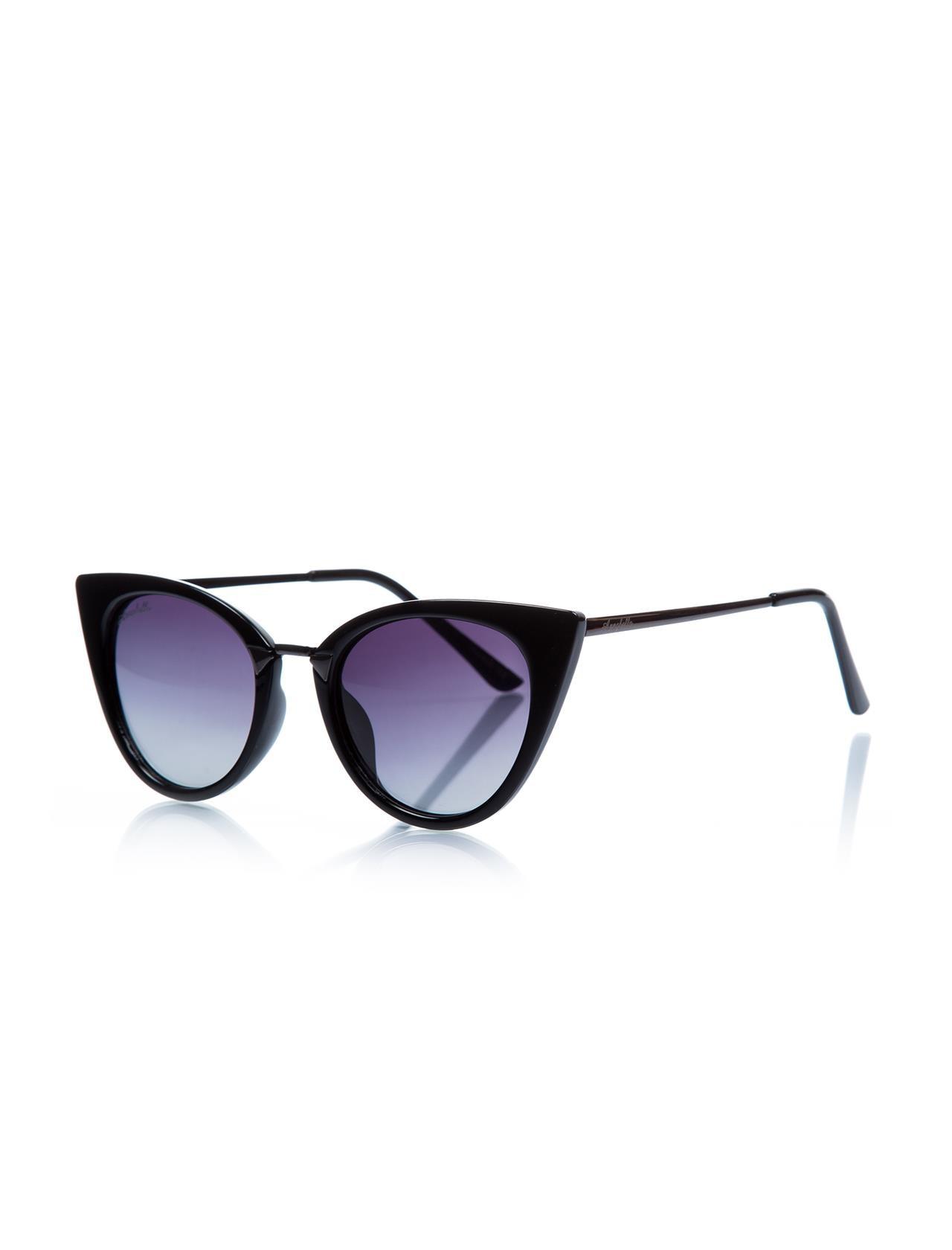 Women's sunglasses anb 221 07 bone black organic butterfly cat eye 51-12-137 annabella