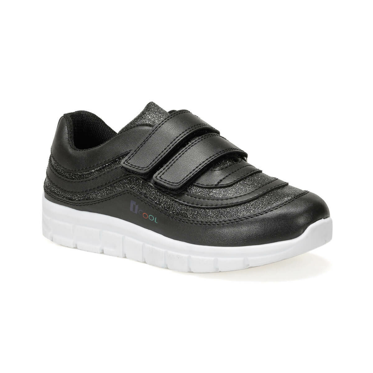 FLO PASSION Black Female Child Shoes I-Cool