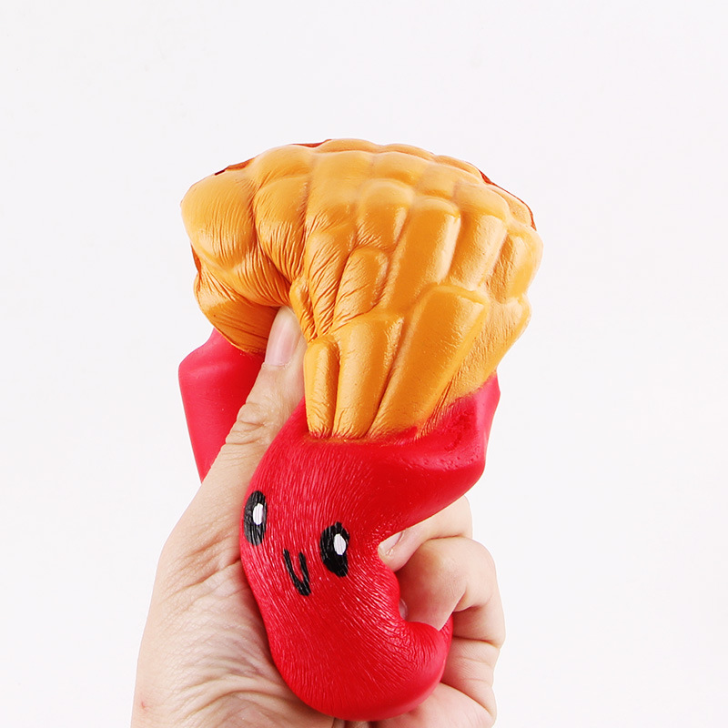 New Fashion Jumbo Squishy Slow Rising Toys Red Pink Blue French Fries Kids Gifts Stress Relief Toys